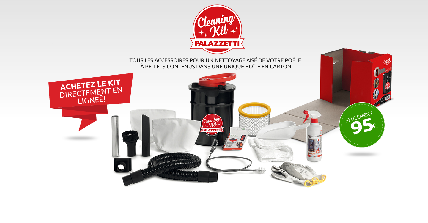 nettoyage poele granules palazzetti cleaning kit. Black Bedroom Furniture Sets. Home Design Ideas